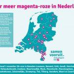 Weer meer magenta-roze in het Nederlandse straatbeeld